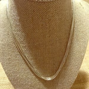Ten strand sterling liquid silver necklace